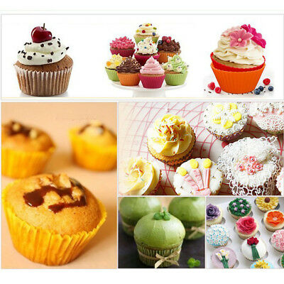 100pc Mini Paper Cake Cupcake Liners Baking Cup Muffin Cases Wedding Xmas Party