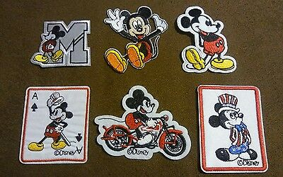 Walt Disney Lot of 6 Mickey Mouse Vintage Patches Immaculate Children Cartoons