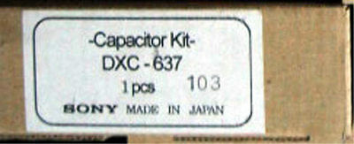 Sony DXC-637 Capacitor Kit genuine VCR VTR parts made in Japan