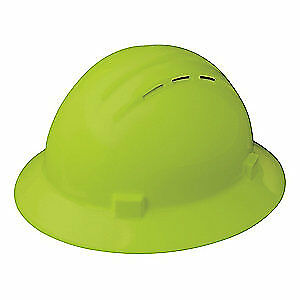 ERB SAFETY Hard Hat,4 pt. Ratchet,Hi-Vis Lime, 19430, Hi-Visibility Lime