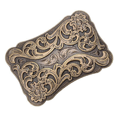 Western Belt Buckle Arabesque Pattern Zinc Alloy Vintage Antique Women Men