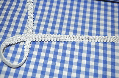 Cord REEL BORDER GLAZED BROCADE BAND 1 METER VISCOSE WHITE
