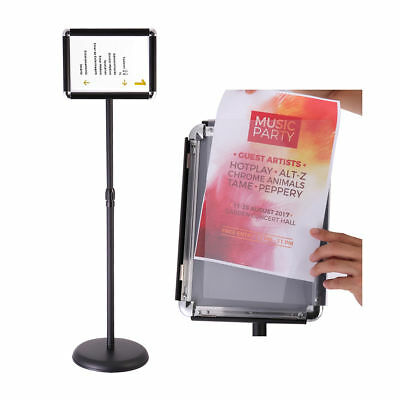 Adjustable Steel Poster Stand Floor Sign Stand Holders with Telescoping Pole
