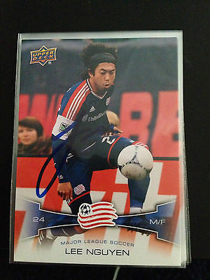 New England Revolution Lee Nguyen Signed Autographed 2012 Upper Deck UD MLS Card