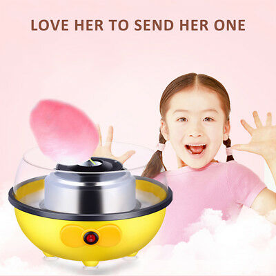 Mini Household Cotton Candy Maker Machine Yellow Homemade Sweets Quick 220V EU