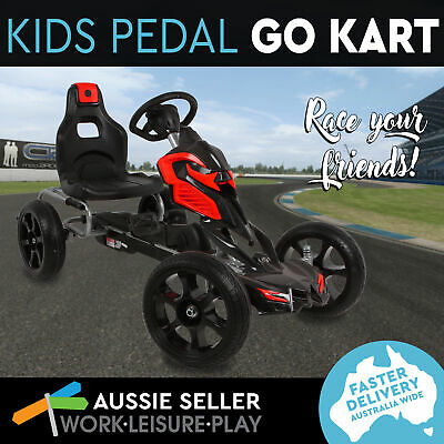 NEW Kids Giant Pedal Powered Go-Kart Mini Outdoor Racing Ride Toy Bike Red