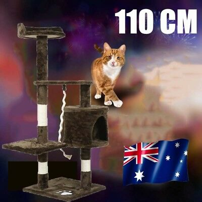 1.1M Cat Scratching Post Tree Gym House Condo Furniture Scratcher Pole AU POST T