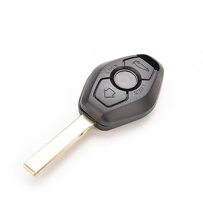 For BMW Replacement Remote Key Shell Fob Case With Uncut Blade JS