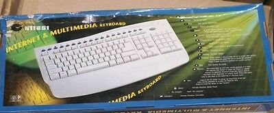 Internet & Multimedia PS/2 White Keyboard (Lot of 10)