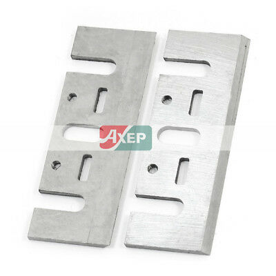 2 Pieces Electric Planer Spare Fittings 82mm Blade for Makita N1900B Silver Tone