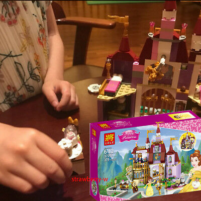 Beauty and The Beast Princess Belle's Enchanted Castle Blocks Friends Toy