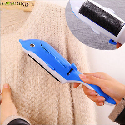 Pet Fur & lint Remover brush Self-cleaning base Travel-size