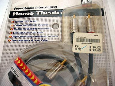 AVICO OFC 2 RCA to 2 RCA Hi-Fi Audio Connecting Cable 75cm Audio CD Amplifier