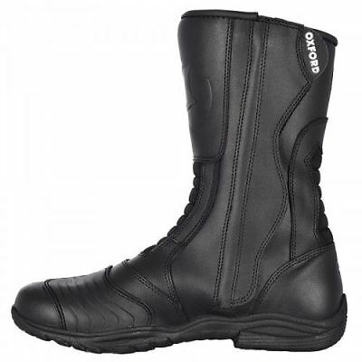 Oxford Tracker Men's Waterproof Touring Motorcycle Motorbike Leather Boots Black