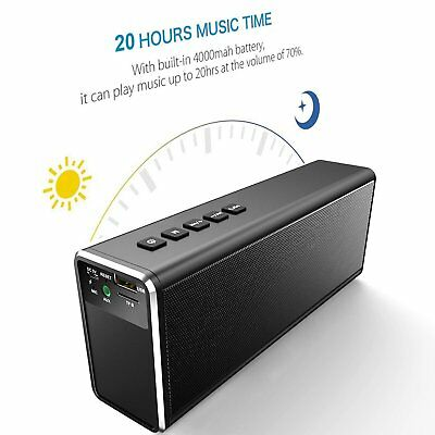 HiFi 20W 4000mAh Portable Wireless Bluetooth Speaker BASS Big Power Bank TF Mic