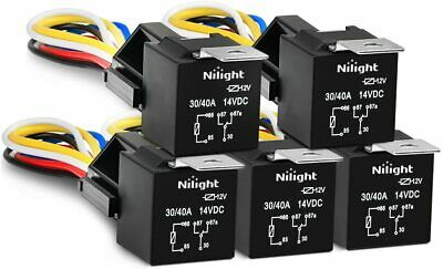 GOOACC 6 Pack Automotive Relay Harness Set 5-Pin 30/40A 12V, 2 Years Warranty