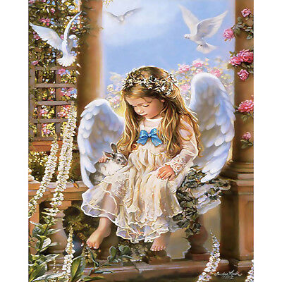 house Decor Canvas Paint By Number Kit Digital Oil Painting Angel Wing No Frame