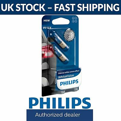 Philips White Vision WhiteVision H6W Sidelight Bulbs (Twin Pack) 12036WHVB2