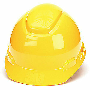 3M Hard Hat,4 pt. Ratchet,Ylw, H-702R, Yellow