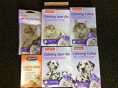 Beaphar Calming Spot On or Collar for dogs & cats  (For anxiety) & Cat Treats