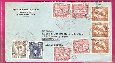 BOLIVIA  1940s Airmail cover