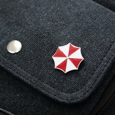 US SHIP Resident Evil Umbrella Corporation Badge Brooch Pin Cosplay Metal Badge