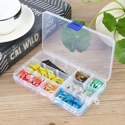 121pcs Automotive Car Boat Truck Fuse Box Assortment 5A 10A 15A 20A 25A 30A QS