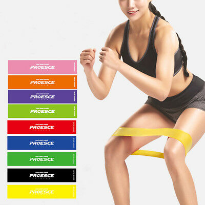 Resistance Bands Exercise Elastic Strength Training Latex Loop Yoga Fitness Gear