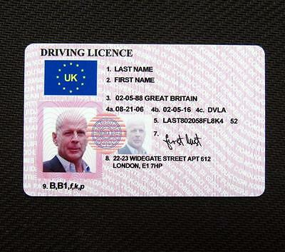 Customize UK Driver's License ID Card Entertainment Props Driving Gift Card