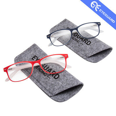 Women Reading Glasses New Simple Stylish PC frame Spring Hinges Readers 2 Pairs