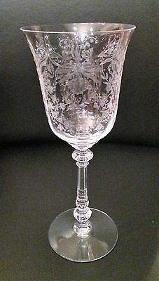 Heisey Glass Orchid #5025 Water Goblets (2)