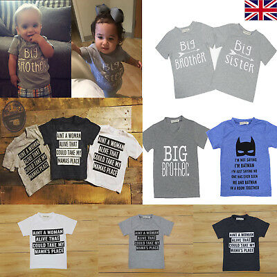 Kids Baby Toddler Boys Girls Short Sleeve Printed T-Shirt Top Clothes 0-3 Years