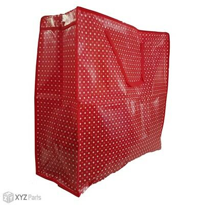 New Strong High Quality Jumbo Laundry Zipped Bag Storage Reused Recycled..