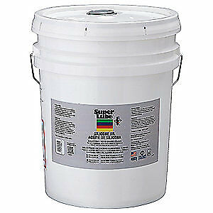 SUPER LUBE Pure Silicone Oil,5000cSt Pail,5 gal., 56505, Clear