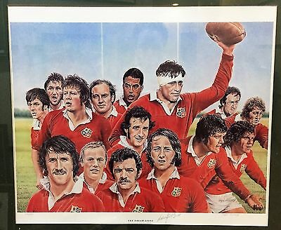 The Dream LIons Large Print Signed By Willie John McBride and the artist
