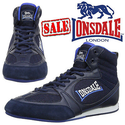 Lonsdale Widmark Mens Sports Boxing Boots Trainers Shoes Navy Blue UK Size 13