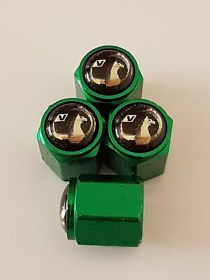 VAUXHALL GREEN Car Wheel Tyre Valve Dust Caps Covers ALL MODELS ASTRA CORSA