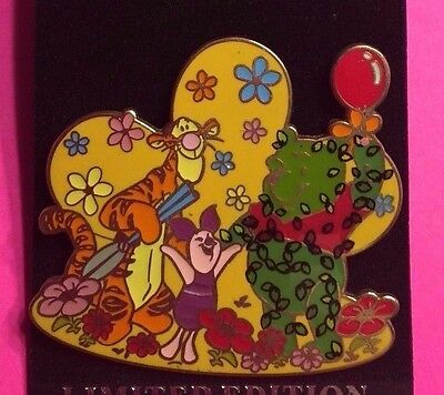 DLR Tigger and Piglet with Pooh Topiary, Surprise Release Disney Pin LE750