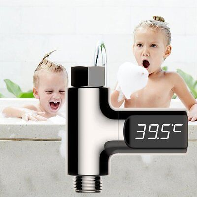 Baby Bathing LED Display Small Size Water Temperature Gauge Measure Tool AX