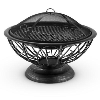 BIG  60 cm FIRE PIT BOWL BBQ GRATE HOME GARDEN PATIO HEATER WOOD CHARCOAL BURNER