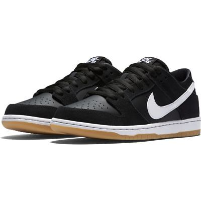 Nike SB Shoes Dunk Low Pro Black White-Gum Light Brown Skateboard Sneakers