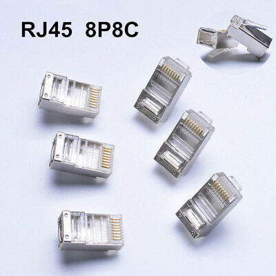 RJ45 connector shielded cat6 network connector 8p8c ethernet Cable switche Lot