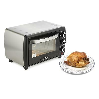 Electric Kitchen Small Oven 20L Food Kitchen Grill Chicken Meat Fish 1500W Black