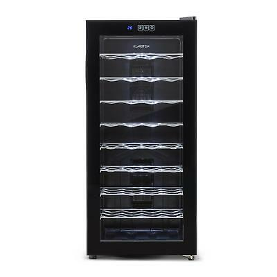 Klarstein 36 Wine Bottles Refrigerator Fridge Drink Bar 118L Glass Led 8 Shelves