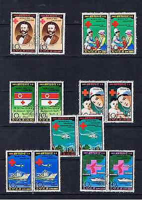 1980 World Red Cross Day Set Of 7 In Pairs