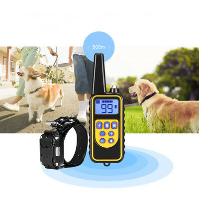 800m Waterproof Rechargeable Remote Control Dog Electric Training Collar for Dog