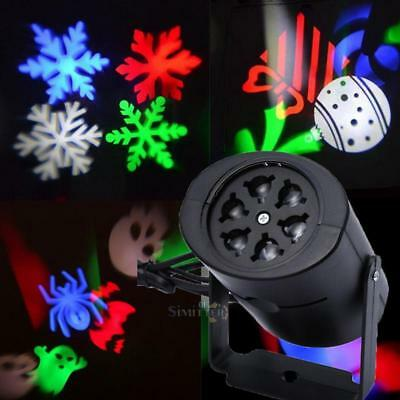 Outdoor LED Snowflake Heart Projector Night Light Lamp for Christmas Party Decor
