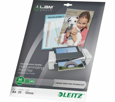 LEITZ iLAM 80 Micron A4 Laminating Pouches - 25 Pack