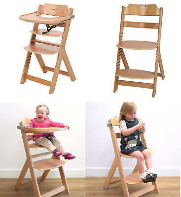 Baby Toddler Highchair Feeding Tray Chair Harness Child Timba Wood Safety 1st