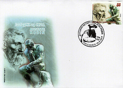 Macedonia / 2017 /FDC/Art / The 100th Anniversary of the death of Auguste Rodin